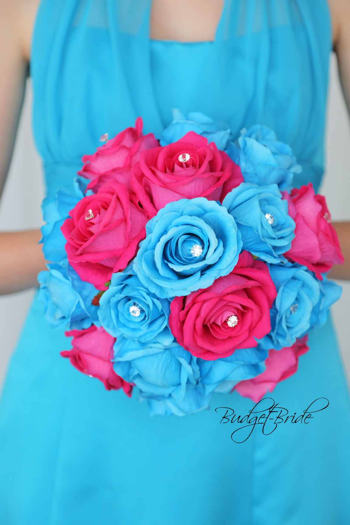 malibu blue wedding bouquets photo - 1