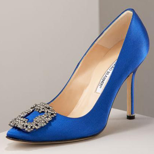 manolo blahnik blue wedding shoes photo - 1