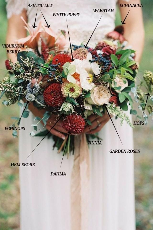 marsala wedding bouquets photo - 1