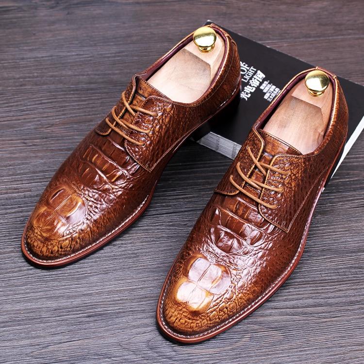 men brown wedding shoes photo - 1