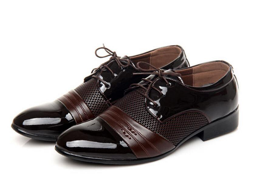mens brown shoes for wedding photo - 1