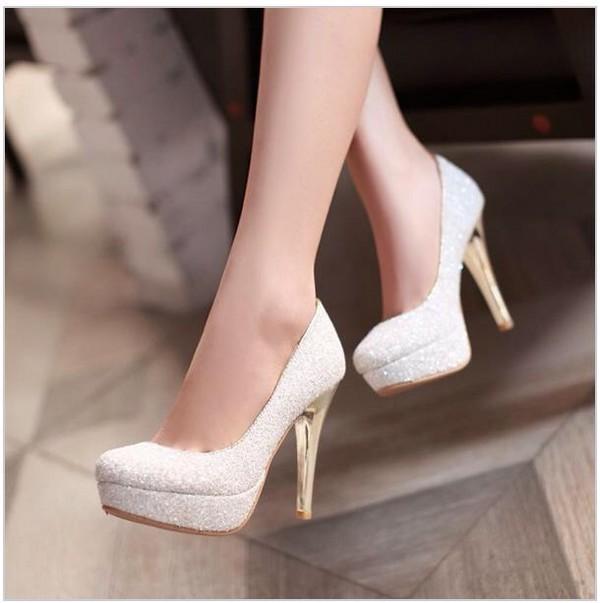 mid heel wedding shoes photo - 1