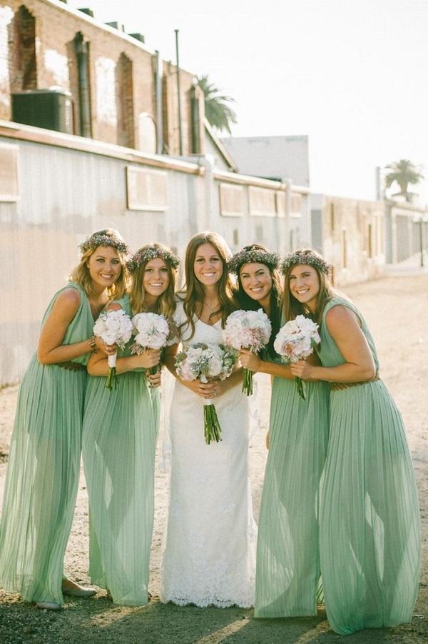 mint green wedding bouquets photo - 1