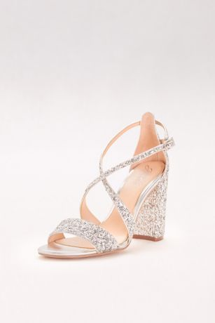 mischka badgley wedding shoes photo - 1