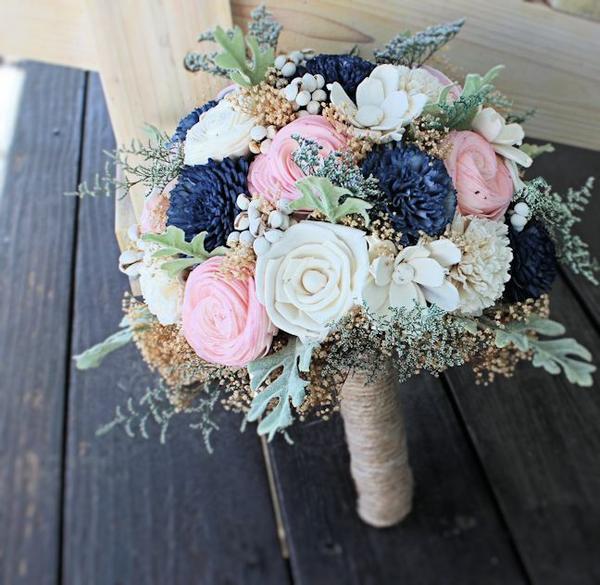 navy blue wedding flowers photo - 1