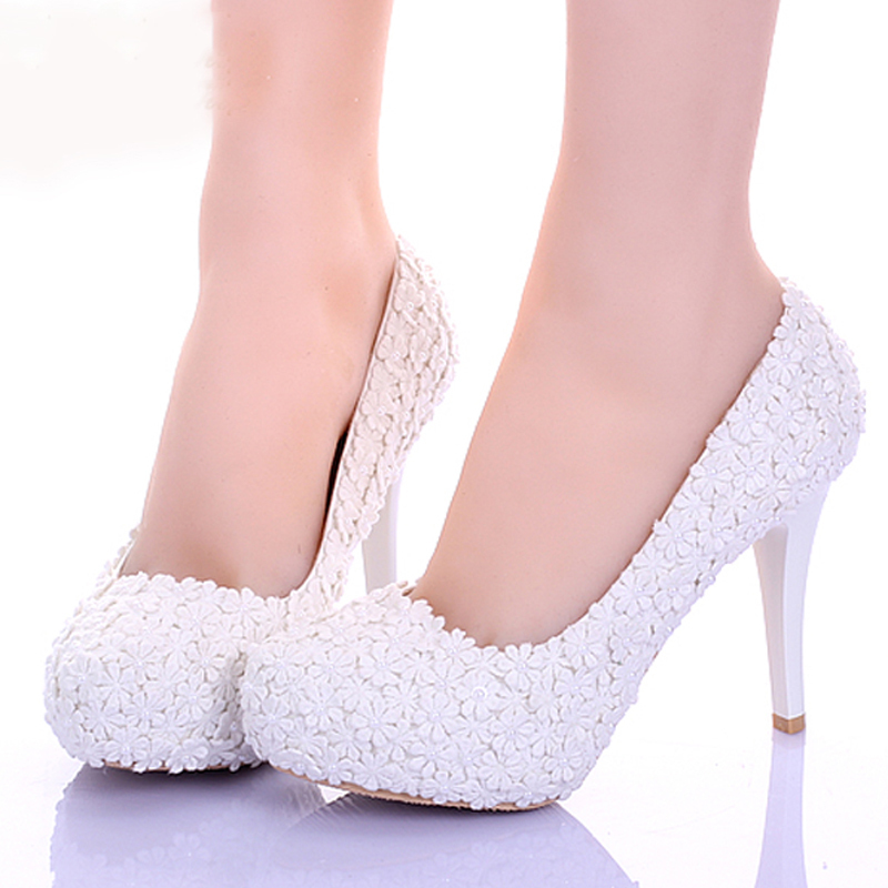 off white bridal shoes photo - 1