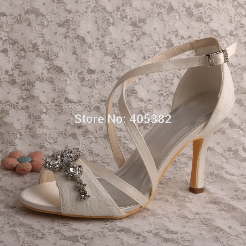 off white shoes for wedding photo - 1