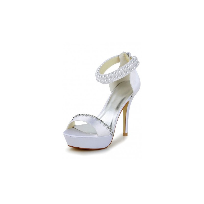 open toe bridal shoes photo - 1