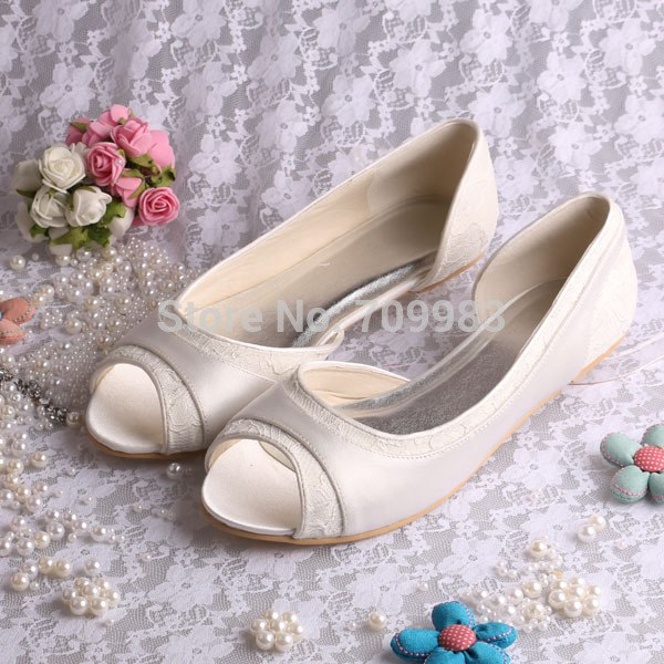 open toe flats wedding shoes photo - 1