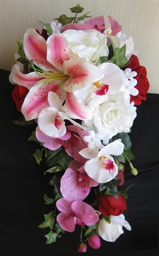 orchid flower bouquets wedding photo - 1