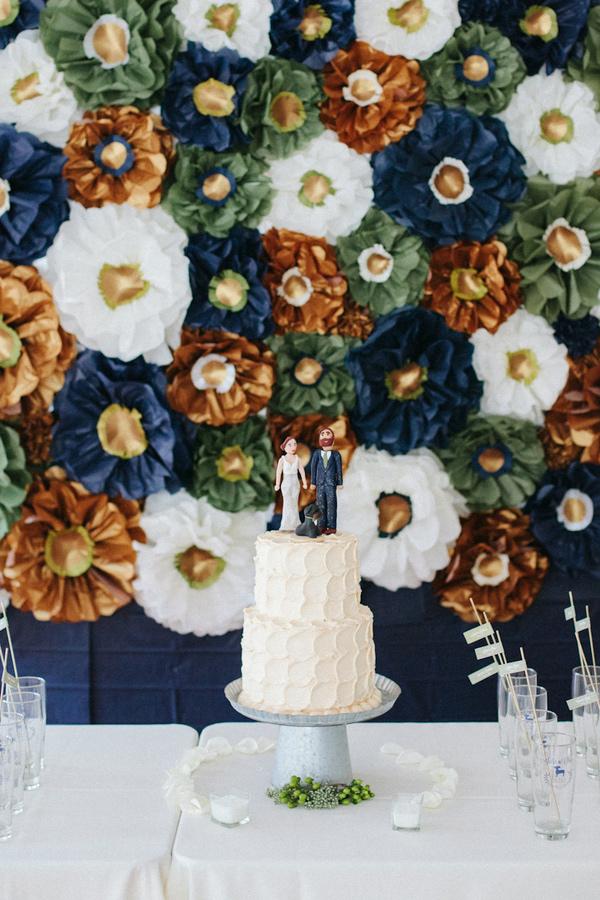 paper flowers wedding backdrops photo - 1