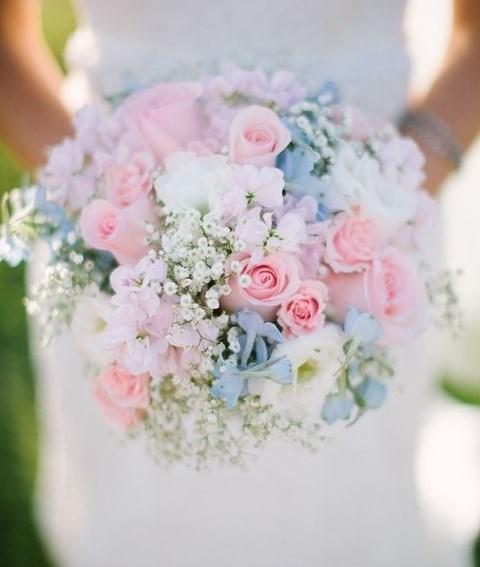 pastel wedding bouquets photo - 1