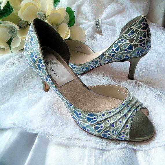 peacock wedding shoes photo - 1