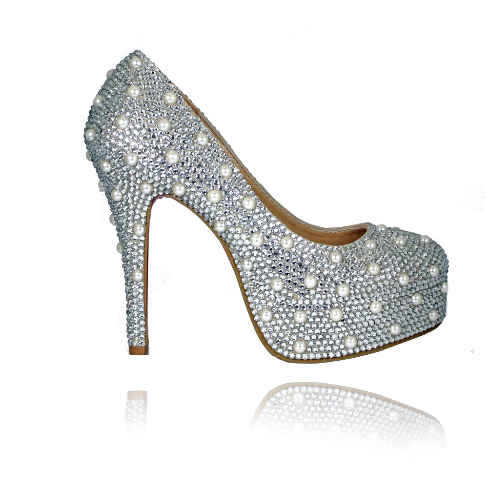 pearl shoes bridal photo - 1