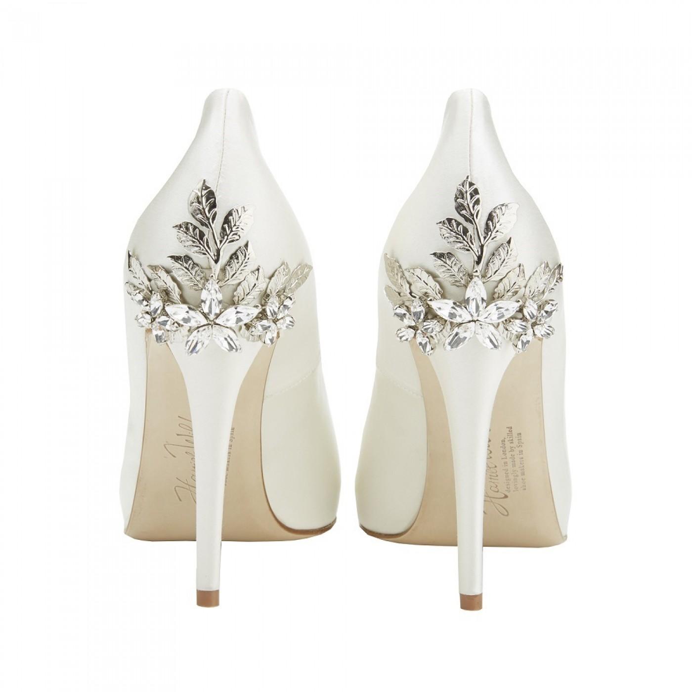 peep toe bridal shoes ivory photo - 1