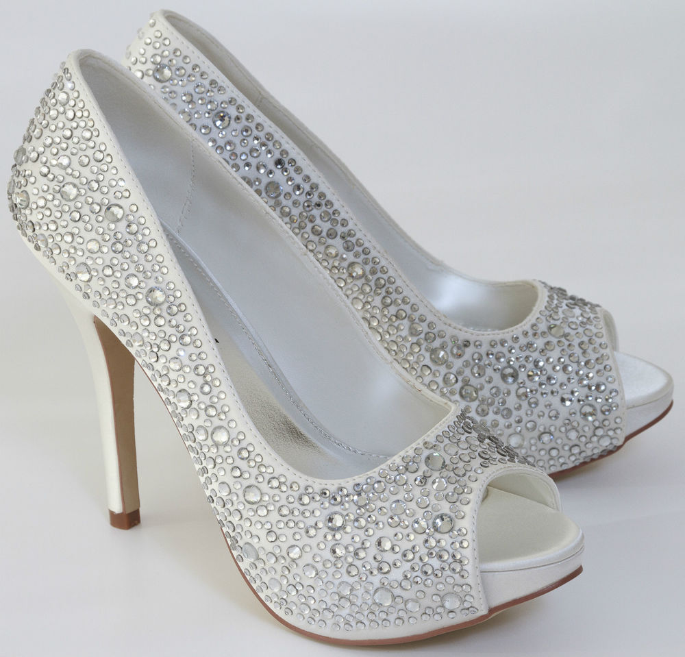 peep toe wedding shoes photo - 1