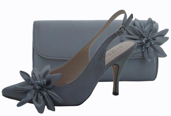 pewter wedding shoes photo - 1