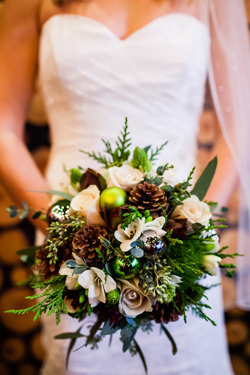 pinecone wedding bouquets photo - 1