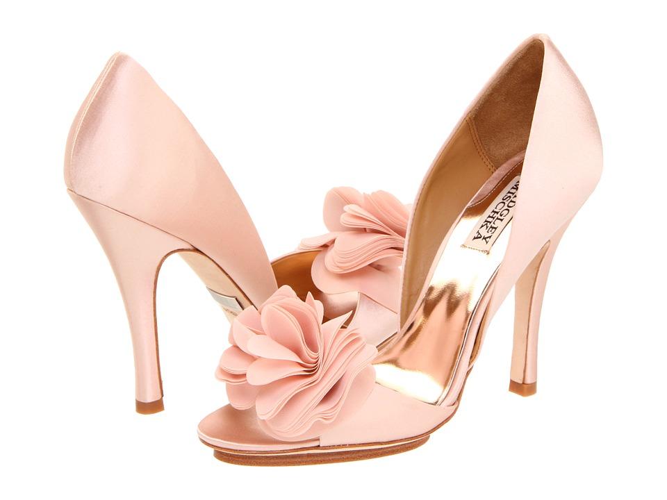 pink blush wedding shoes photo - 1