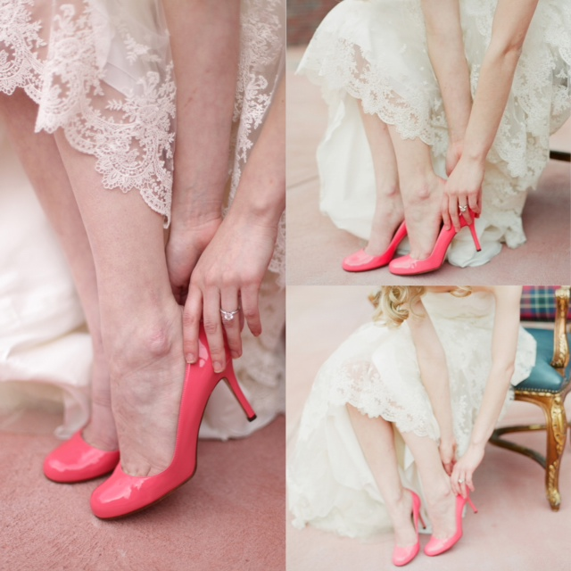 pink dress shoes for wedding photo - 1