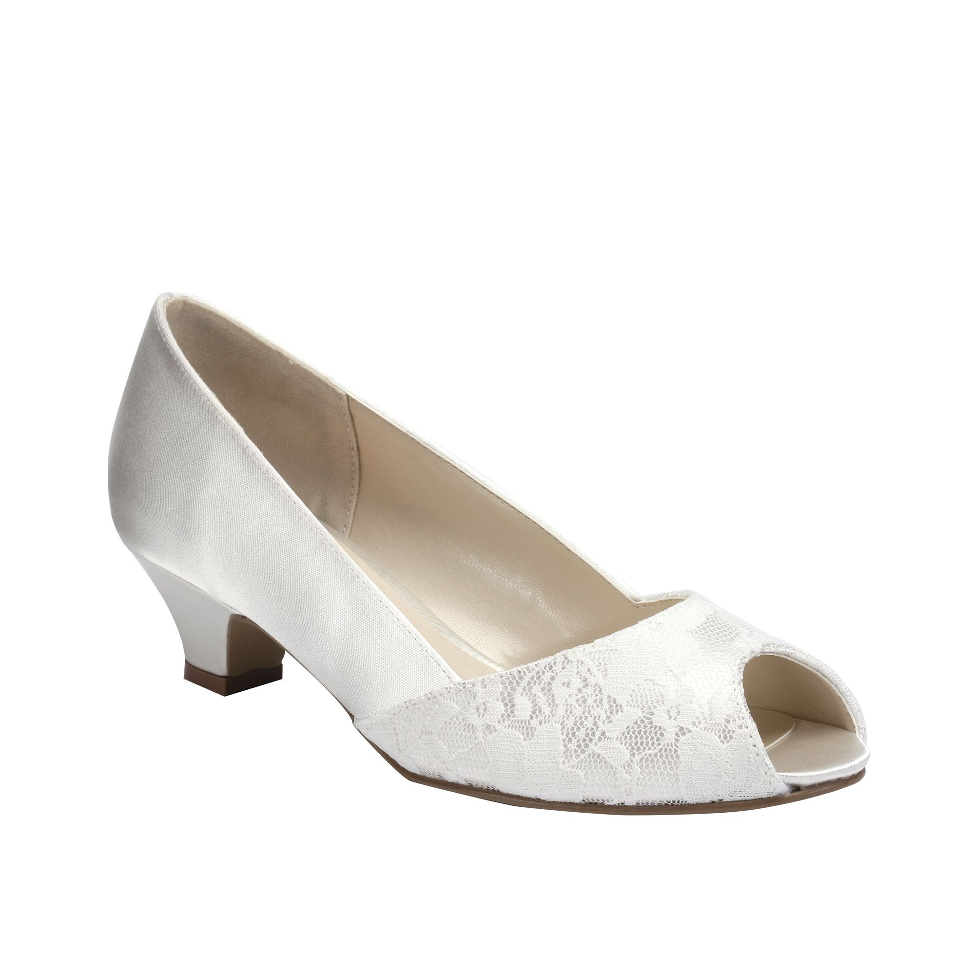 pink wedding shoes low heel photo - 1
