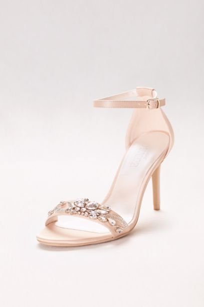pink wedge shoes for wedding photo - 1