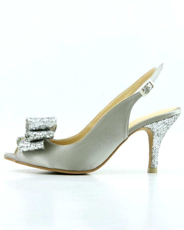 platinum shoes wedding photo - 1
