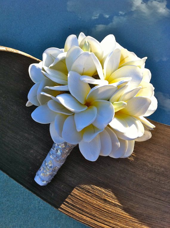 plumeria wedding bouquets photo - 1