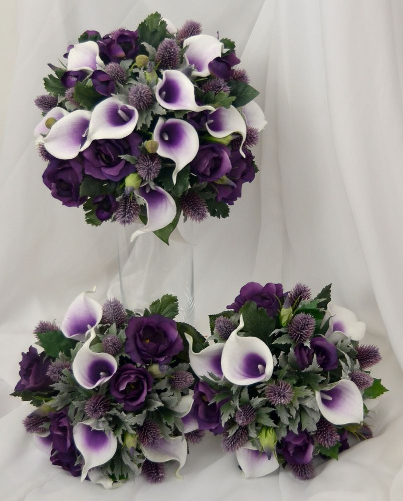 pre made artificial wedding bouquets photo - 1