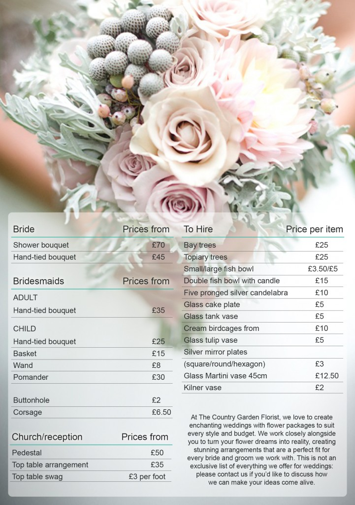 prices of wedding flowers photo - 1