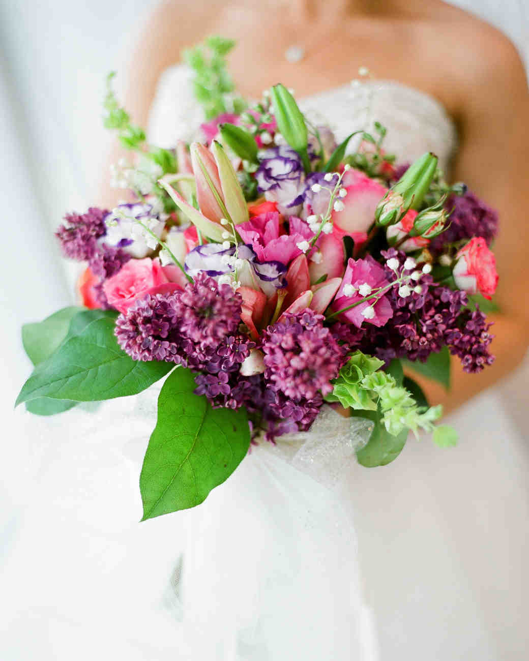 purple and gold wedding bouquets photo - 1