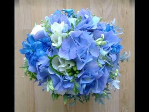 purple flower wedding bouquets photo - 1