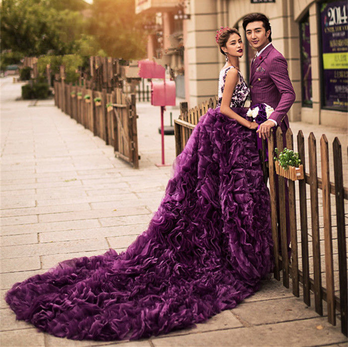 purple shoes for wedding photo - 1
