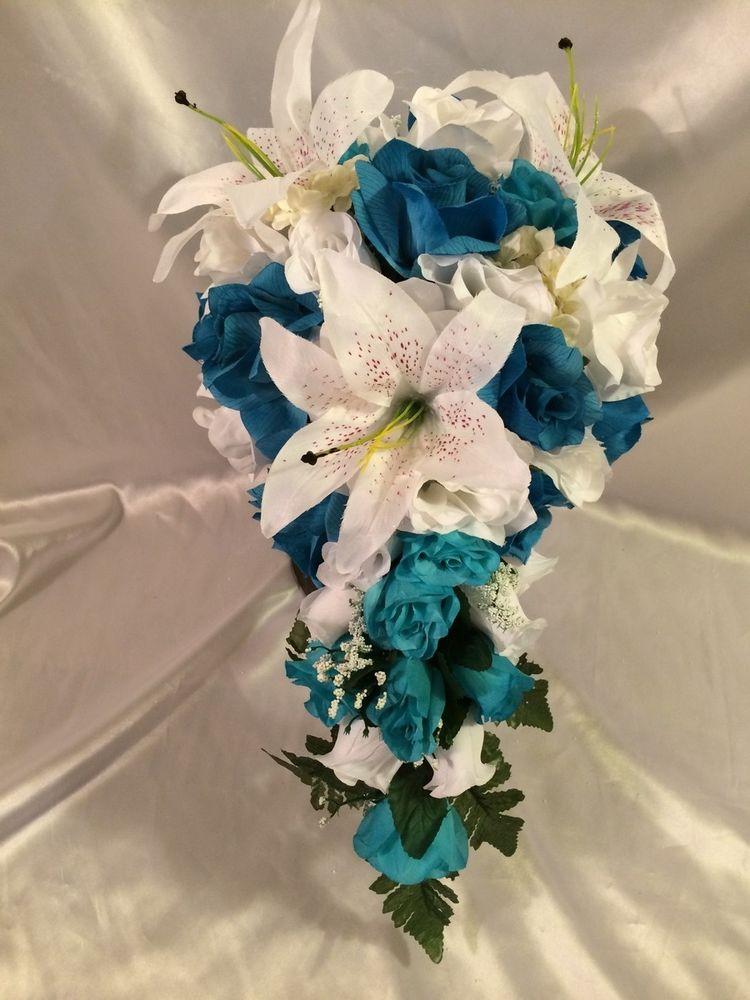 purple silk wedding bouquets photo - 1