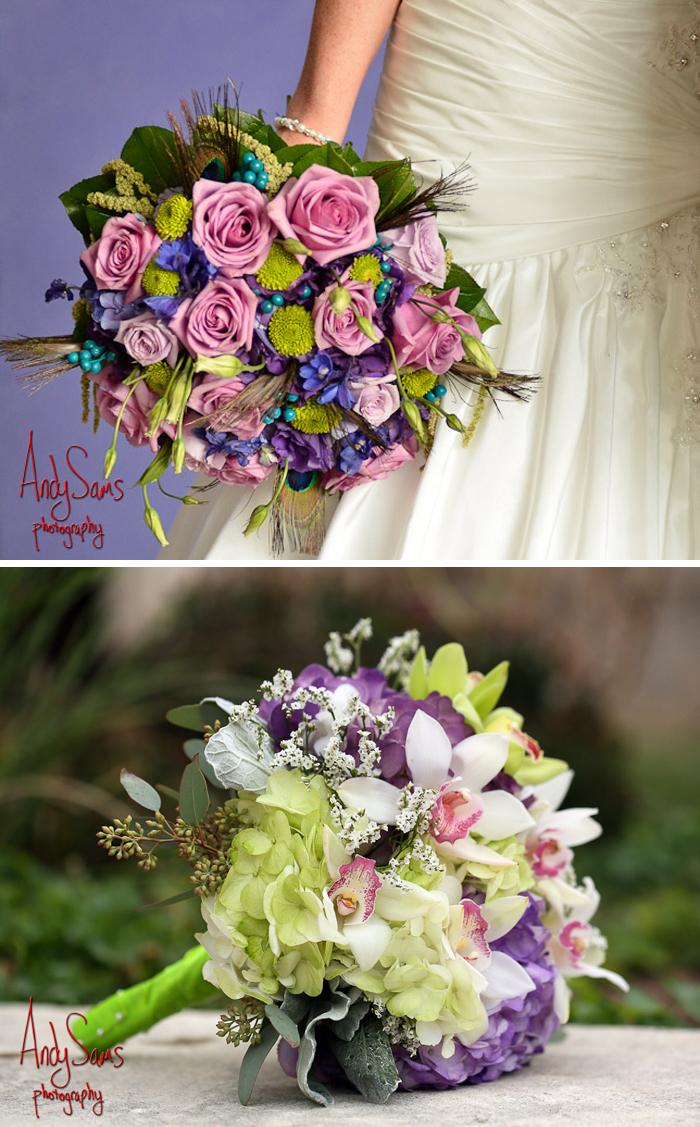 purple spring wedding bouquets photo - 1