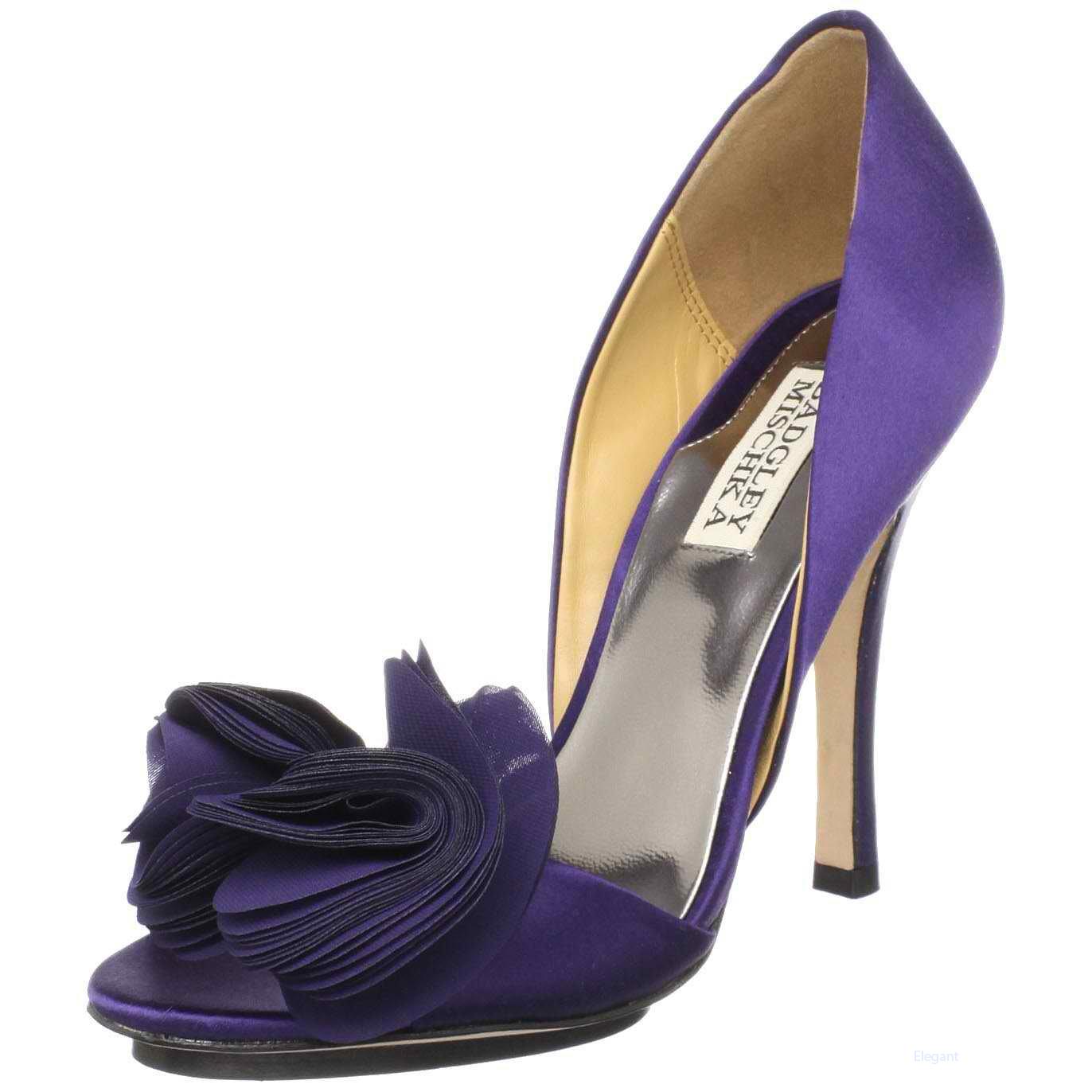 purple wedding shoes photo - 1