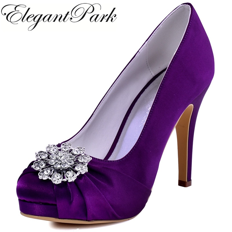 purple wedding shoes for the bride photo - 1