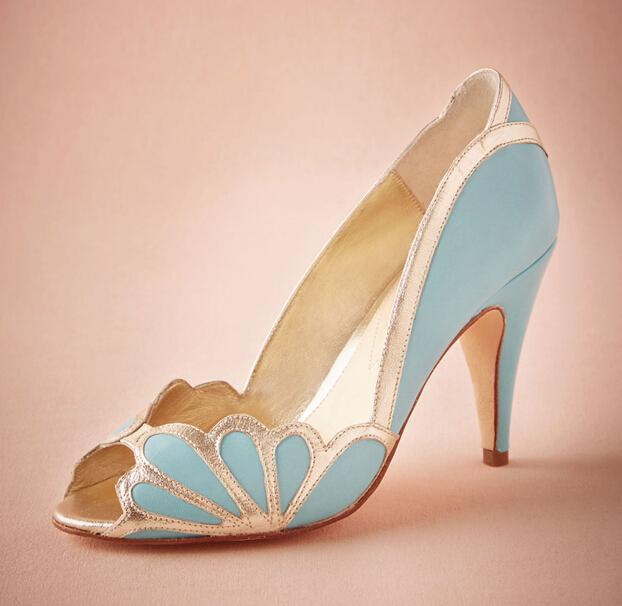 purple wedding shoes wedges photo - 1