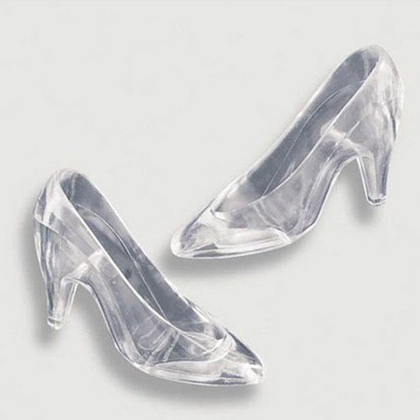 real glass slippers wedding shoes photo - 1