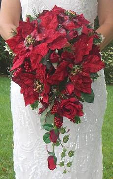 red rose bouquet wedding photo - 1