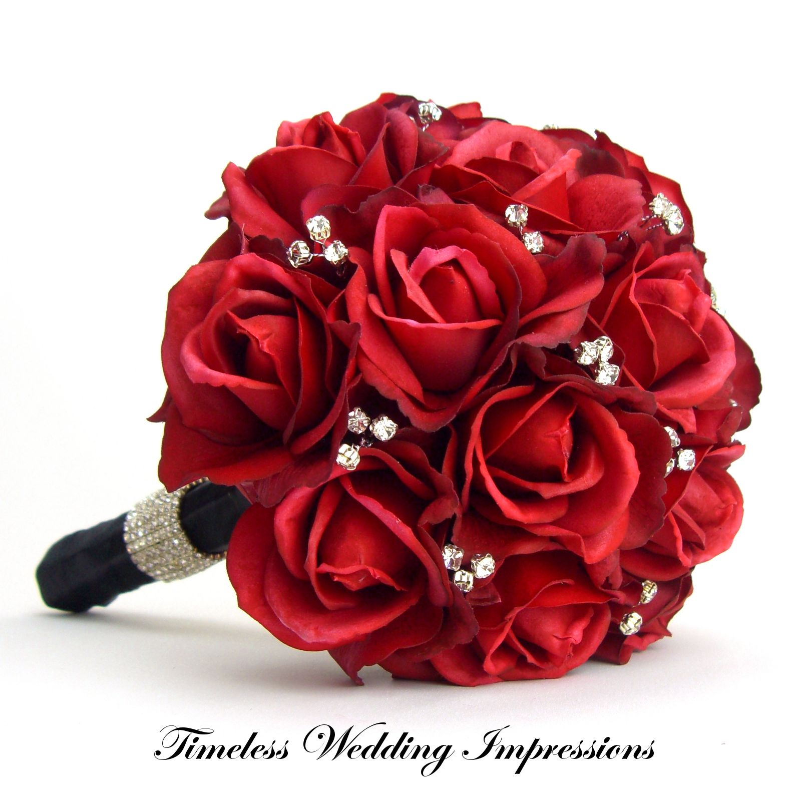 red wedding flower bouquets photo - 1