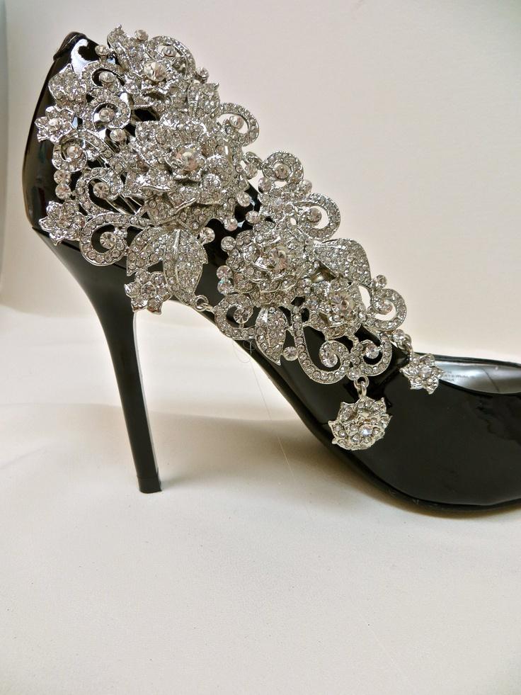 rhinestone wedding shoes photo - 1