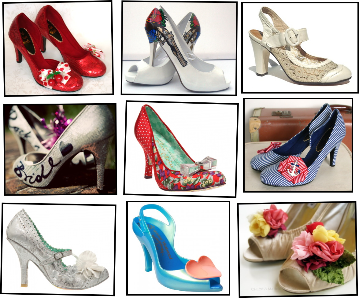 rockabilly wedding shoes photo - 1