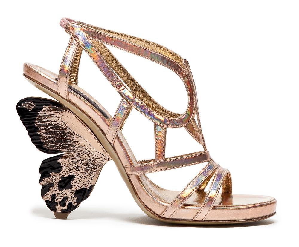 rose gold bridal shoes photo - 1