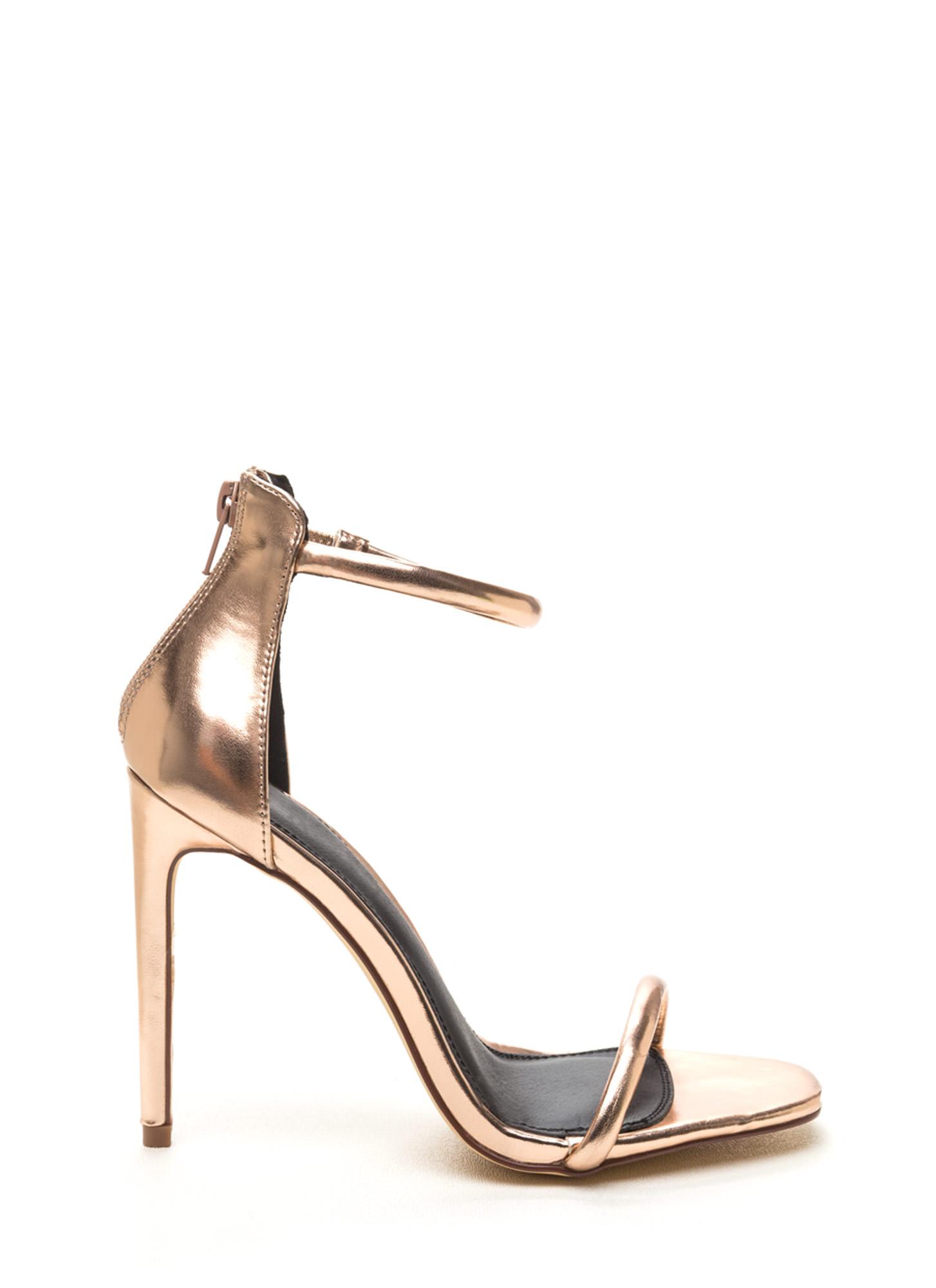 rose gold low heel wedding shoes photo - 1