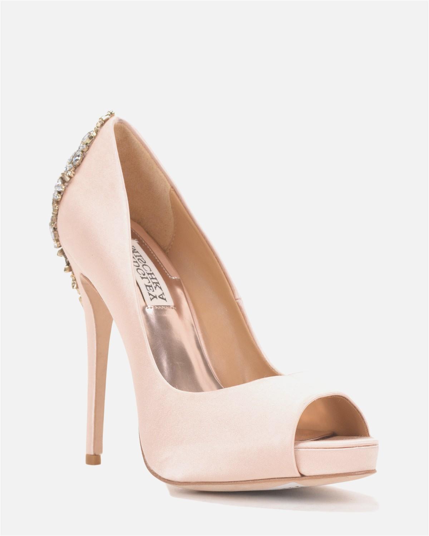 rose gold shoes wedding photo - 1