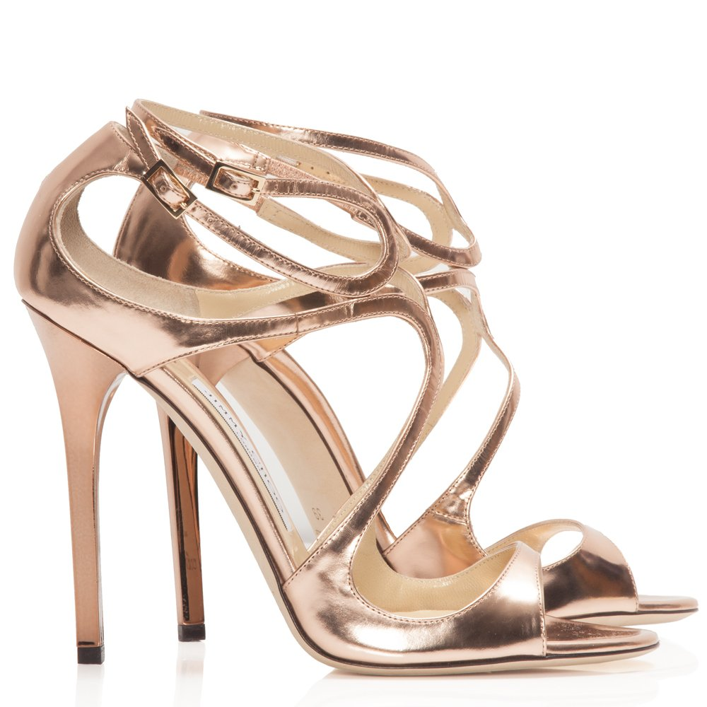 rose gold wedding shoes photo - 1