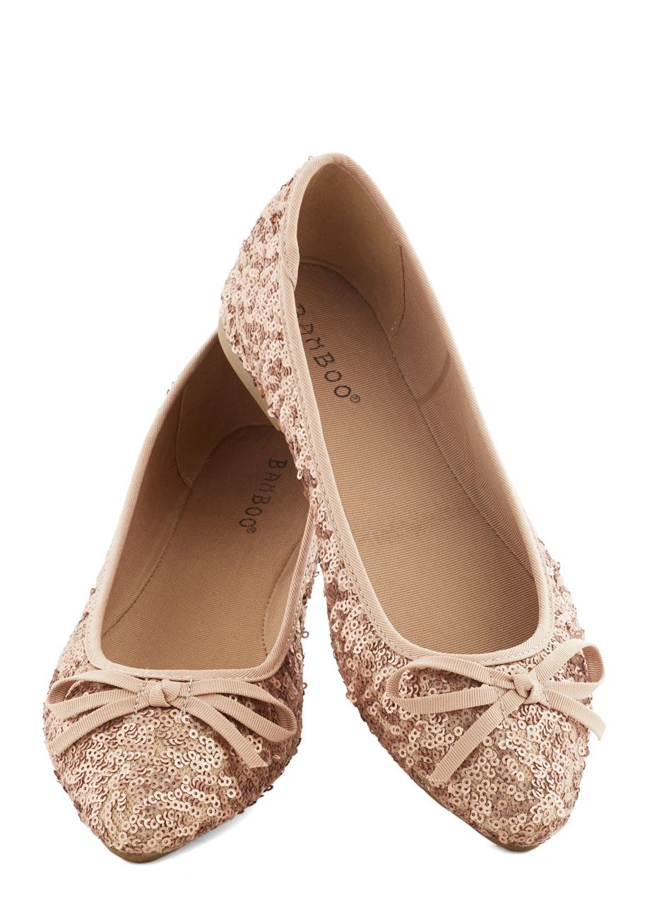 rose gold wedding shoes flats photo - 1