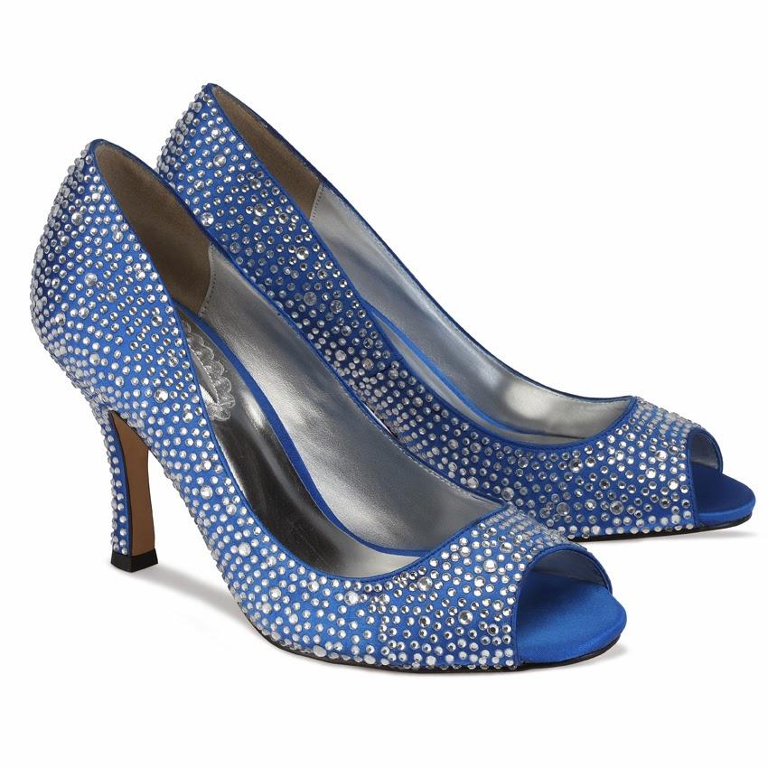 royal blue bridal shoes photo - 1