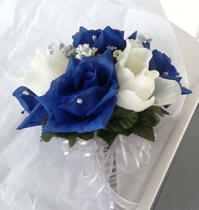 royal blue wedding bouquets photo - 1
